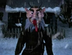 Krampus, as imagined by Anthony Bourdain