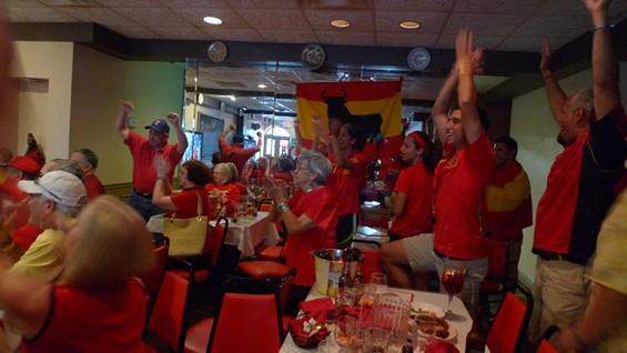 The Carretero family celebrates the victory