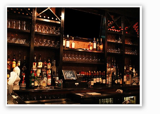 The bar at Vito's. | Zoe Kline