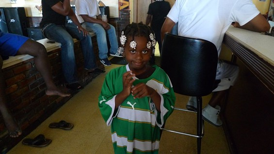This Little Ivory Coast fan didn't understand why everyone was yelling after goals.