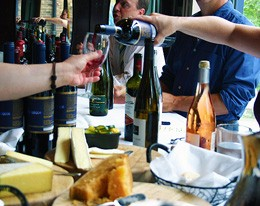 Tasters are thirsty for more at Scottish Arms' well-attended wine-tasting event. - KATIE MOULTON