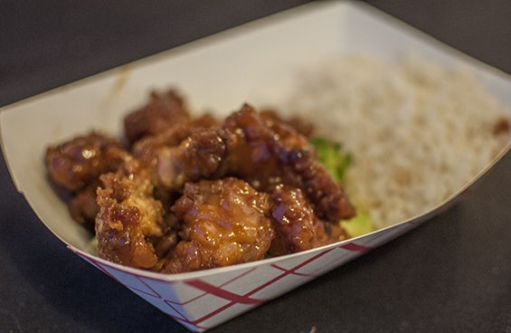 General Tso's chicken from Hot Wok. | Caroline Yoo