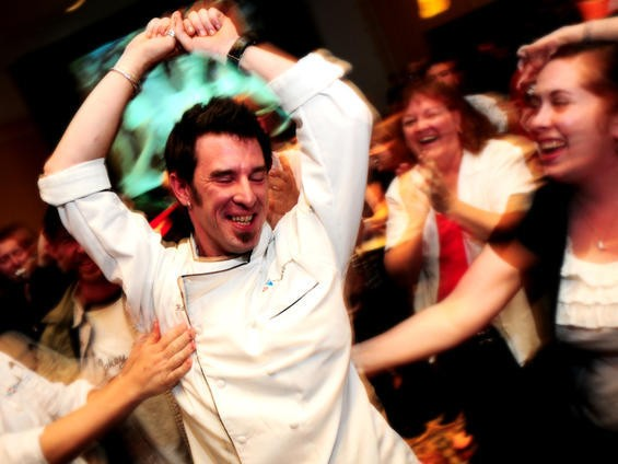 Carl Hazel of the Scottish Arms after winning the Iron Fork chef competition - EGAN O'KEEFE