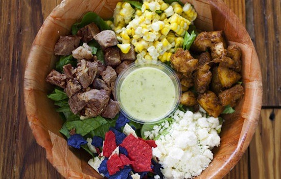 "The ""Pueblito"" salad, unmixed, at Green Bean 