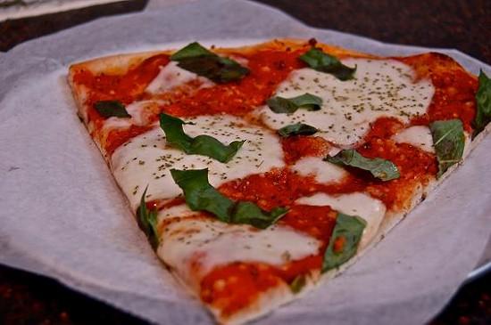 A slice of Epic's pizza Margherita - ETTIE BERNEKING