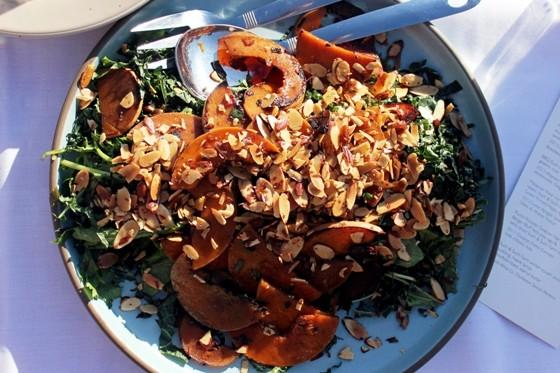 BBQ SUCH & SUCH FARM BUTTERNUT SQUASH, GREENS, NUTS | SARA GRAHAM