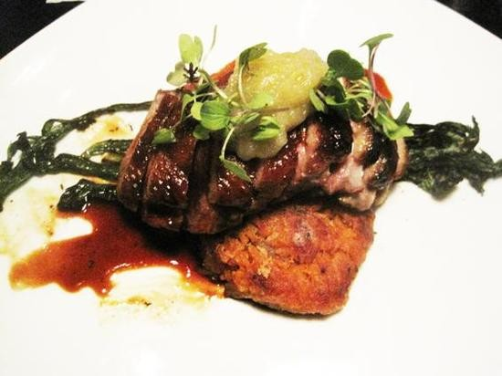 The applewood-smoked duck breast at Sidney Street Café, No. 7 in Opinionated About Dining's Midwest ranking - IAN FROEB