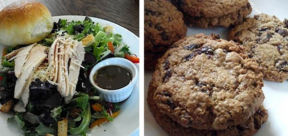 "The ""Kitchen Sink"" salad and oatmeal raisin cookies. - KAITLIN STEINBERG"