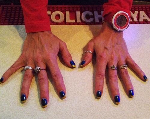 Depauli's Blues-inspired manicure - JAIME LEES