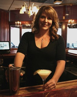 Bartender Melissa Pfeiffer and her key lime martini. - CHRISSY WILMES