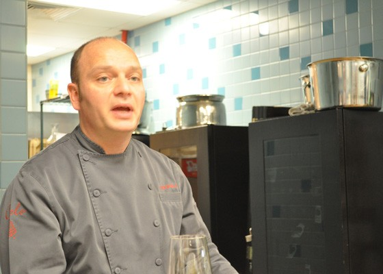 Chef Gian Nicola Colucci explaining his process. | Nancy Stiles