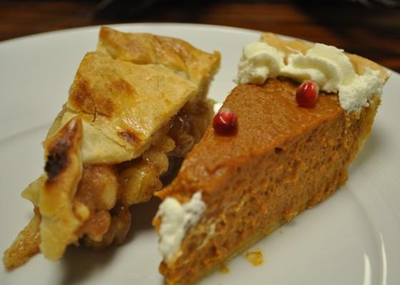 Apple and pumpkin pie. | Nancy Stiles