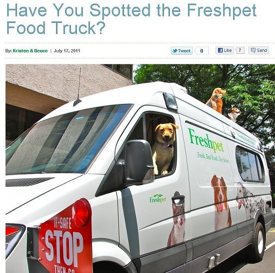 SCREENSHOT: WWW.FRESHPET.COM