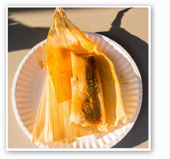 Tamales from the Mexican tent. | Theo Welling