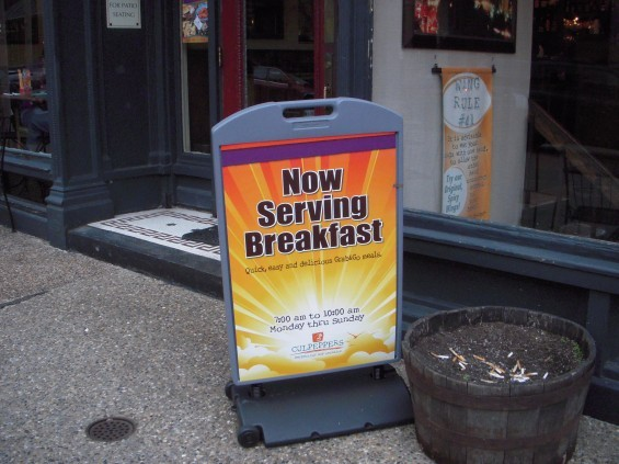 Culpepper's added a breakfast counter service on March 28.