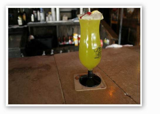 "The ""Horny Gator"": a summery drink to chase away the cold. 