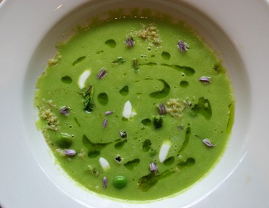English pea soup: a bowlful of springtime. - KATIE MOULTON