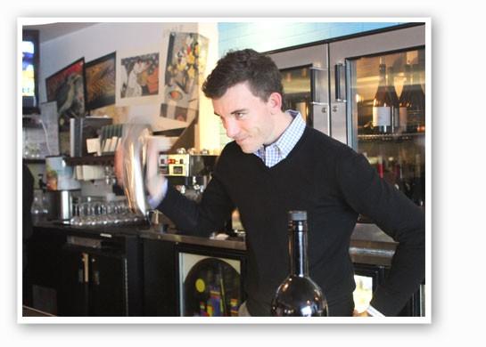 Bartender Matt DeVous shakes up our drink. | Nancy Stiles