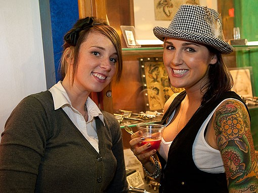 Tattoos, sangria and ice cream cakes.  Iron Age officially had it all going on Friday night. - PHOTO: STEW SMITH