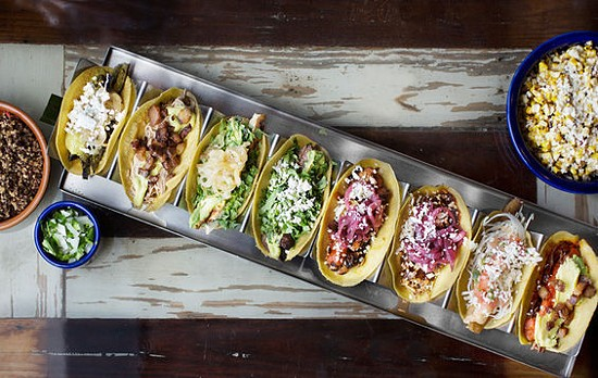An array of tacos at Mission Taco Joint | Jennifer Silverberg