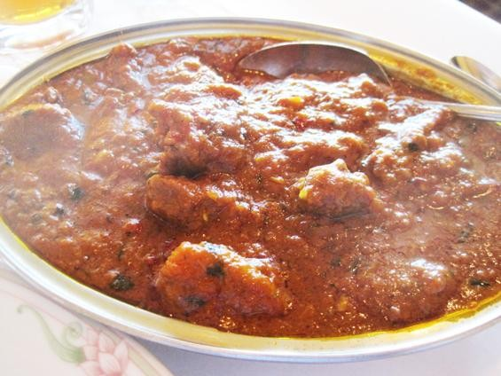 The lamb vindaloo at India Palace - IAN FROEB