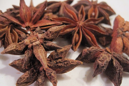 Whole star anise. - KRISTIE MCCLANAHAN