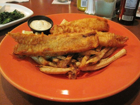 Beer-battered fish and chips from Barrister's. - KRISTIE MCCLANAHAN