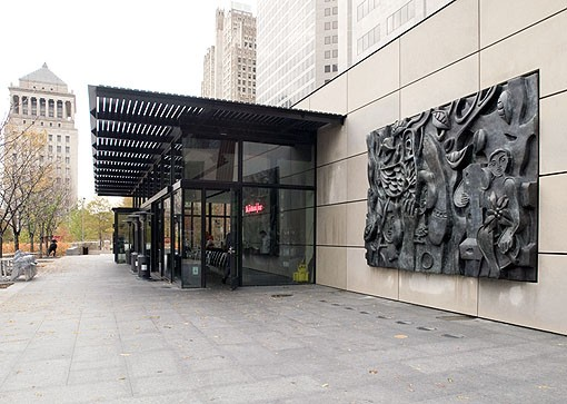 The sculpture on the restaurant wall was created by French artist Fernand Léger in 1952. The artist died three years later. View a Terrace View slideshow. - PHOTO: JENNIFER SILVERBERG