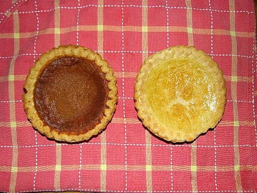Bean Pie to the left, Buttermilk Pie to the right - ADRIENNE JONES