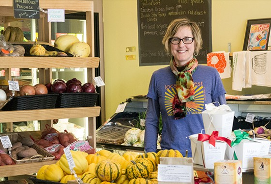 Maddie Earnest of Local Harvest Grocery. | Mabel Suen