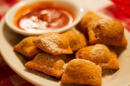 Monte Bello Pizzeria's homemade toasted ravioli. - ALL PHOTOS BY MABEL SUEN