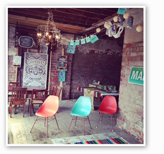 "Owner Jessie Mueller calls the decor ""wild and bohemian."" 