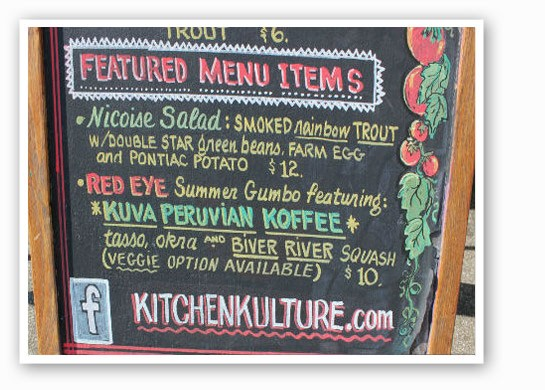 Kitchen Kulture's tasty menu | Pat Kohm