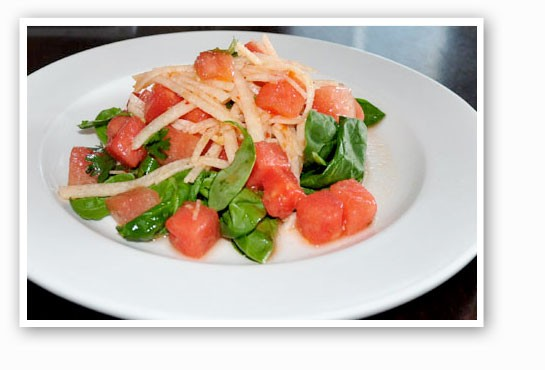 Watermelon and jicama salad at Remy's. | Tara Mahadevan