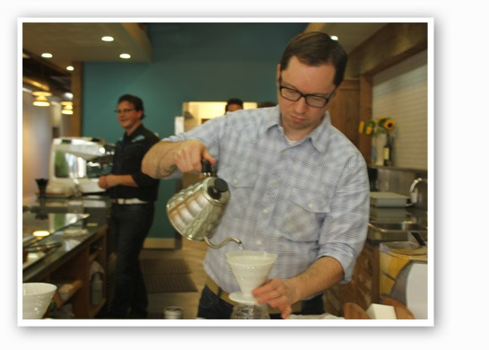 Andrew Timko brews up some Joe. | Nancy Stiles