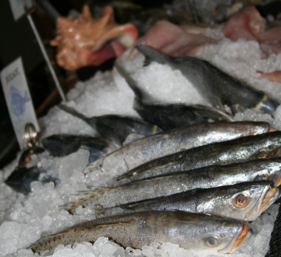The European-style open-air fish market at Vin de Set.   Wendy Hamilton