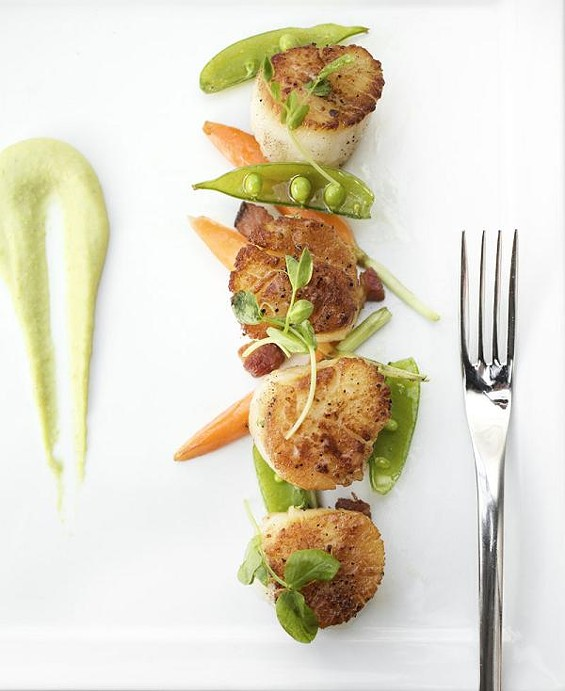 The scallops at Mosaic Bistro Market - JENNIFER SILVERBERG