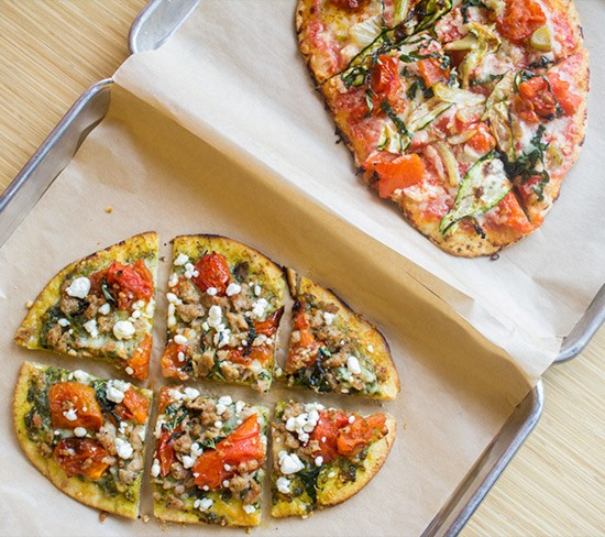 Grilled pizzas at Pizzino.   Photos by Mabel Suen