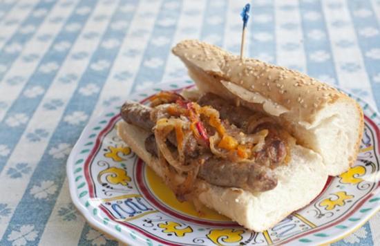 A salsiccia sandwich at Adriana's - SARAH RUSNAK