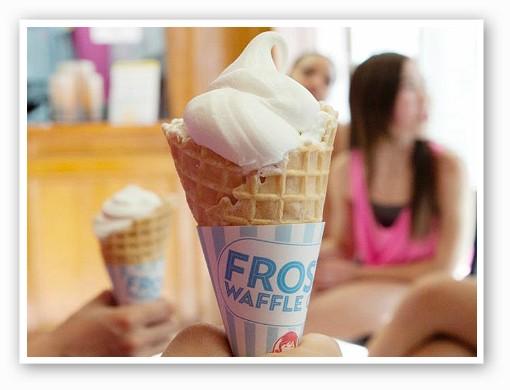 Wendy's new vanilla Frosty waffle cone dessert. | Image via