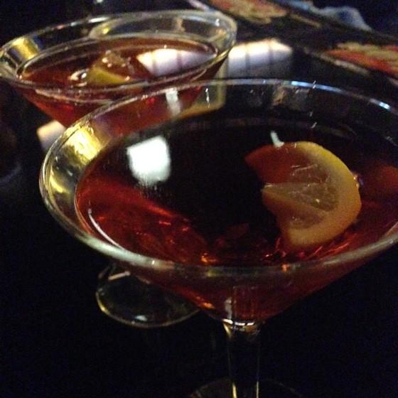 Belvedere cocktails at the Crown Room.   Nancy Stiles