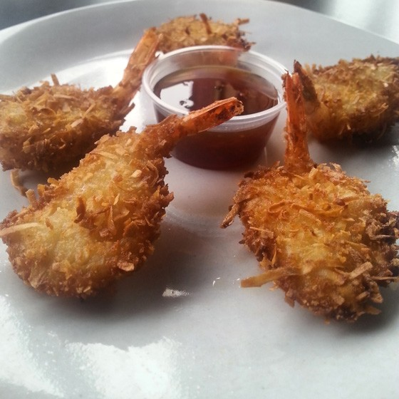 The new coconut shrimp at Taha'a. | Stephanie Tash