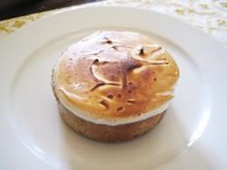The lemon meringue and pine torte at BitterSweet Bakery - IAN FROEB