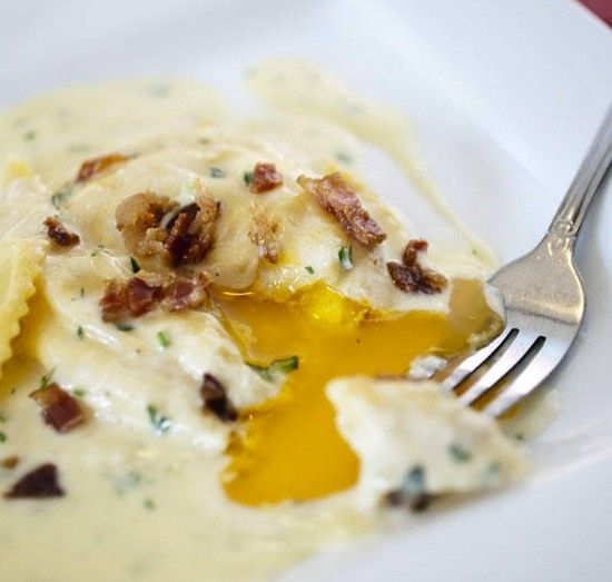 "The ""Bacon and Egg"" dish at Liluma's Side Door - JENNIFER SILVERBERG"