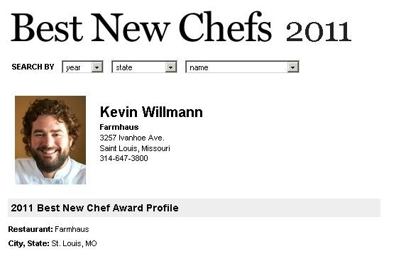 The Best New Chef 2011 profile of Farmhaus owner/chef Kevin Willmann - SCREENSHOT: WWW.FOODANDWINE.COM