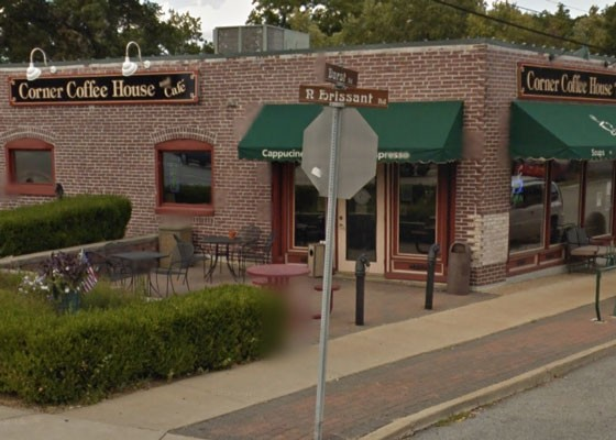 The Corner Coffee House.   Google Street View