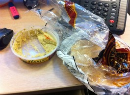 Eating pita bread straight from the bag? You filthy animal. - IMAGE VIA