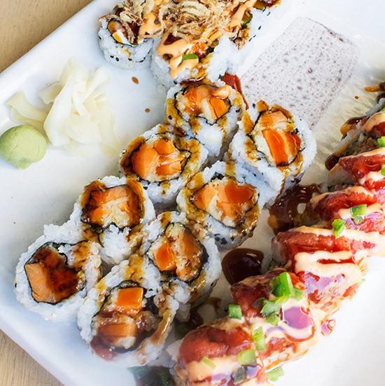 Assorted rolls at Blue Ocean. | Mabel Suen
