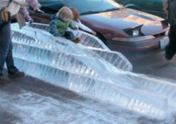 Ice slide? Don't mind if we do.