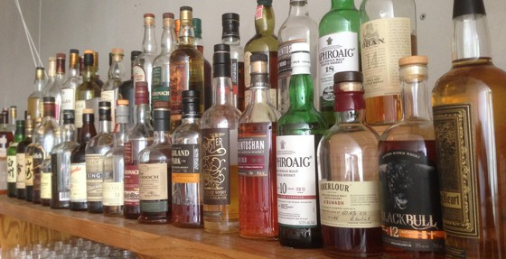 Some of the great whiskeys at 33 Wine Bar | Patrick J. Hurley